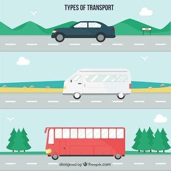 Pack de tipos de transporte