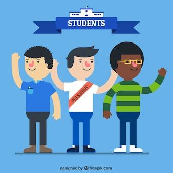 Pack de tres estudiantes