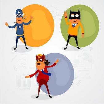Pack de tres superhéroes divertidos