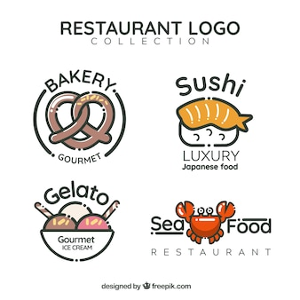 Pack divertido de logos de restaurante