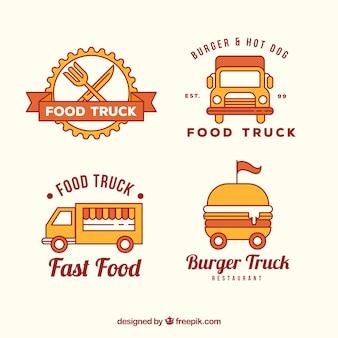 Pack moderno de logos de food truck