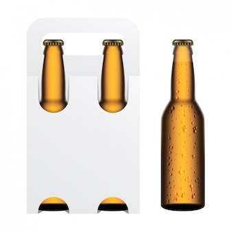Packaging blanco de cerveza