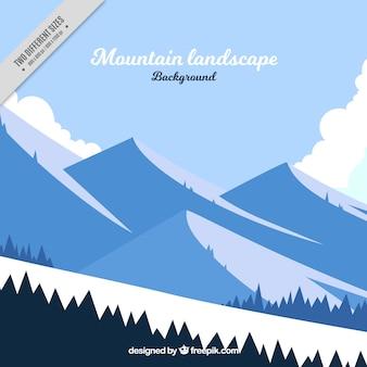 Paisaje de invierno con montañas y nieve