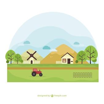 Paisaje de la granja