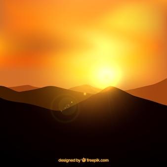 Paisaje de puesta de sol