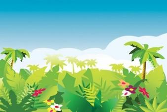 paisaje de vegetación tropical