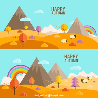 Paisaje feliz del otoño