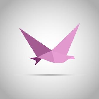 Pájaro de papel de origami