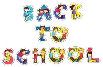 Palabra inglesa de regreso a la escuela