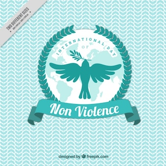 Paloma volando para celebrar el día de la no violencia
