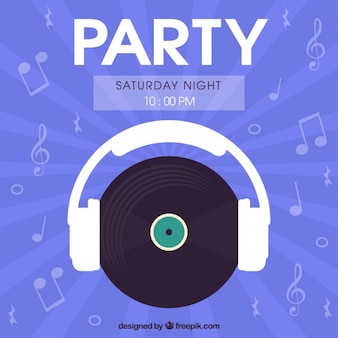Panfleto de fiesta de sábado noche