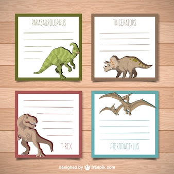 Papel de notas de dinoraurios
