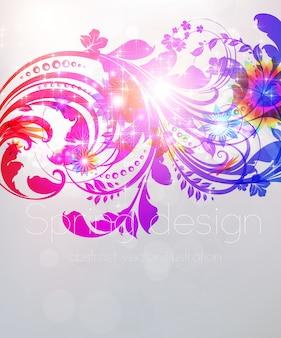Papel pintado romántico color rizo mariposa