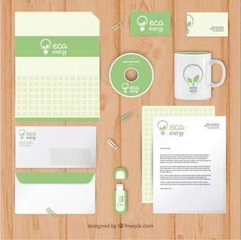 Papelería ecológica de negocios