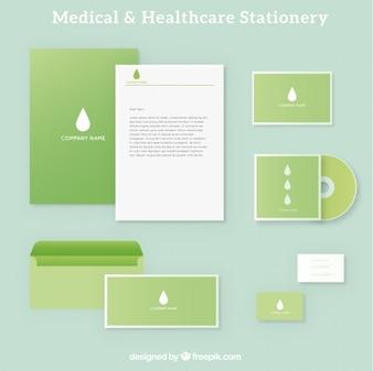 Papelería médica verde