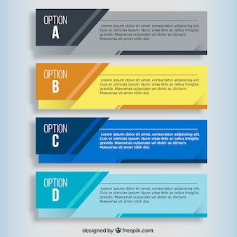 Paquete de banners de infografía
