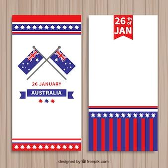 Paquete de banners del día de Australia