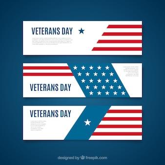 Paquete de banners del día del veterano
