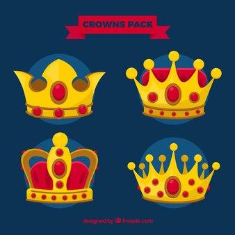 Paquete de coronas reales