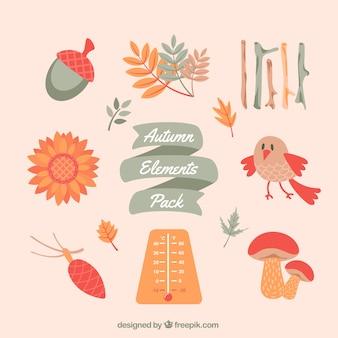 Paquete de elementos de otoño