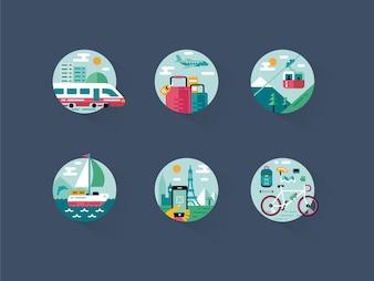 Paquete de iconos de viajes