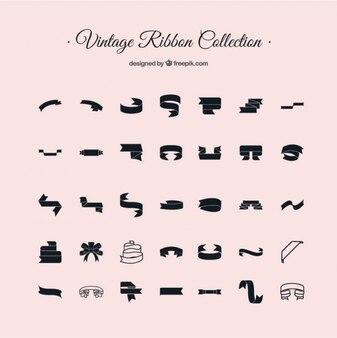 Paquete de lazos vintage en formato vectorial