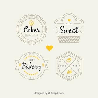 Paquete de logos de panadería retro