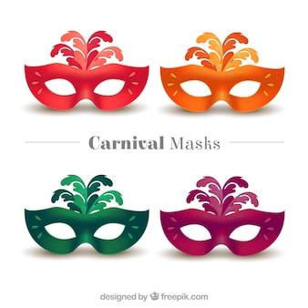 Paquete de máscaras de carnaval de colores