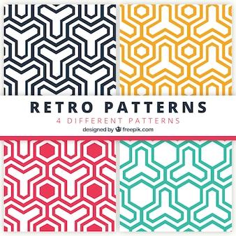 Paquete de patrones geométricos de colores