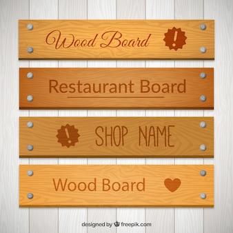 Paquete de tablones de madera