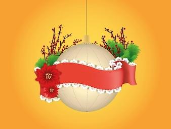 Paquete de vectores ornamento celebración de la Navidad
