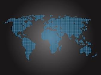 Paquete mapvector mundo digital