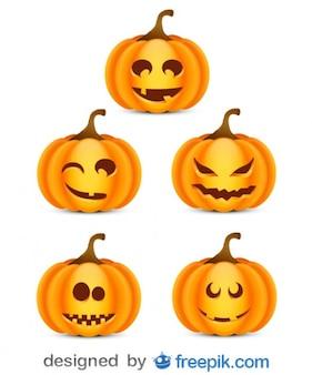 Paquete sobre halloween de pequeñas calabazas atemorizantes 2