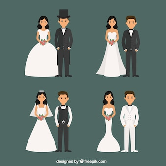 Parejas de recién casados con distintos estilos