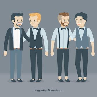 Parejas homosexuales en estilo hipster