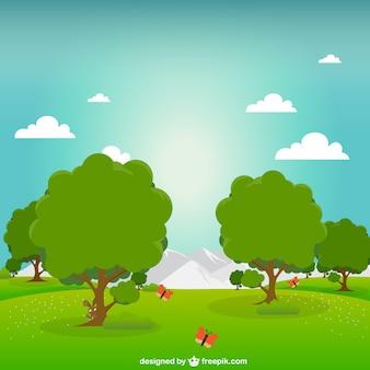 Parque verde ilustración vectorial
