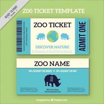 Pases azules de zoo con rinocerontes