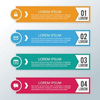 Pasos modernos del infographic del negocio