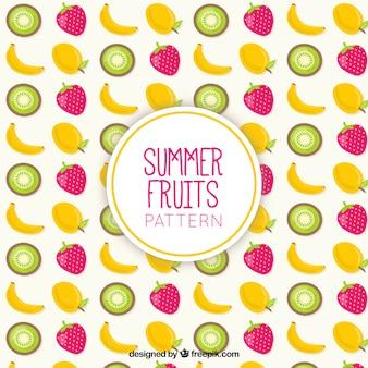 Patrón de frutas exóticas