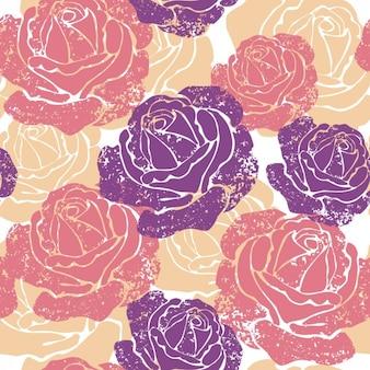 Patrón floral colorido continuo