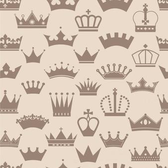 Patrón vintage de coronas
