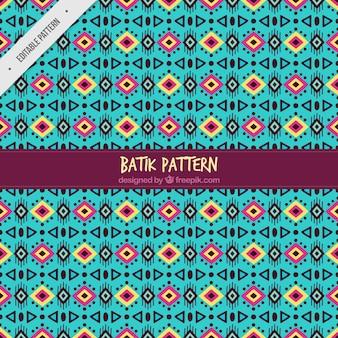 Patrón abstracto batik