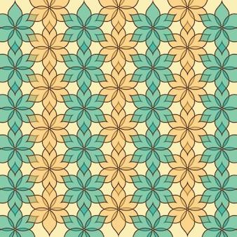 Patrón abstracto floral