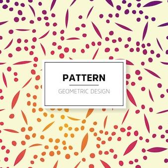 Patrón brilloso dibujado a mano con puntos y líneas