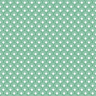 Patrón circular verde