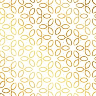 Patrón con hojas doradas