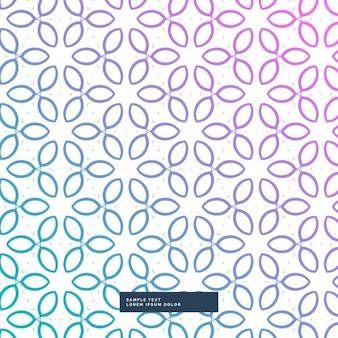 Patrón con hojas púrpuras y azules