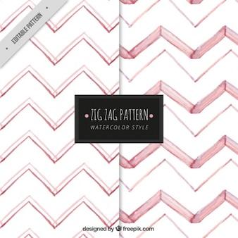 Patrón con zig zag rosa