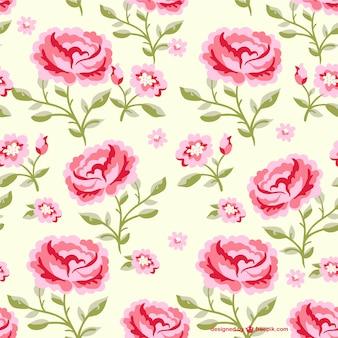 Patrón continuo de flores