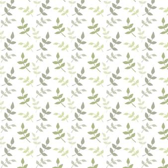 Patrón de acuarela con hojas verdes